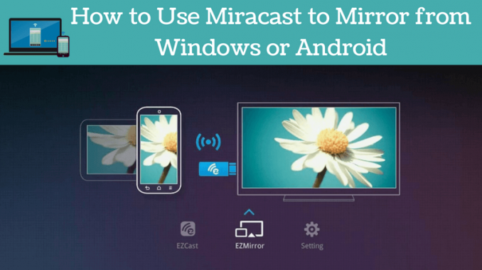 How to Use Miracast to Mirror from Windows or Android