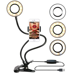 DAHAI Ring Light with Sturdy Stand for Live Stream on YouTube