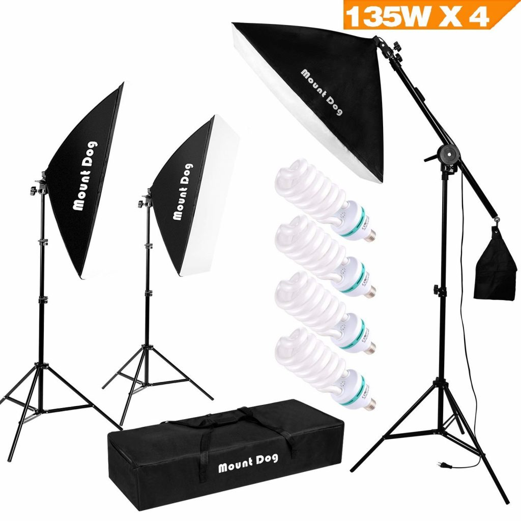 MOUNTDOG 1350W Photography Studio Lighting Kit