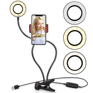 UBeesize Selfie Ring Light with Phone Holder Stand