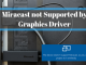 Miracast not Supported by Graphics Driver